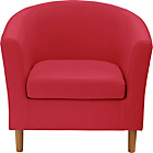 more details on ColourMatch Fabric Tub Chair - Poppy Red.