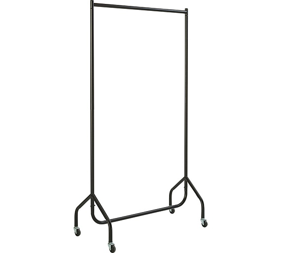 Buy home single heavy duty clothes rail black at argos - Bedroom furniture for hanging clothes ...