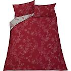 more details on Charlotte Floral Red and Cream Bedding Set - Double.