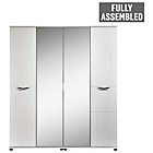 more details on Contempo 4 Door Wardrobe - White.