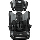 more details on BabyStart Imax Luxe Group 1-2-3 Car Seat - Black and Grey.