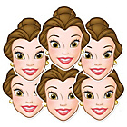 more details on Disney Princess Belle Pack of 6 Masks.