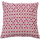 more details on Heart of House Polka Cushion - Cranberry.