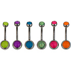 more details on Stainless Steel Bright Belly Bars - Set of 6.
