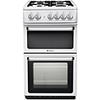 more details on Hotpoint HARG51P Double Gas Cooker - White/Ins/Del/Rec