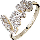 more details on 9ct Gold Plates Sterling Silver Cubic Zirconia Love Ring.