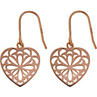 more details on 9ct Rose Gold Plated Sterling Silver Heart Drop Earrings.