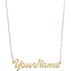 more details on 9ct Gold Personalised Name Plate Necklet.