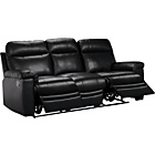 more details on HOME New Paolo Large Leather Manual Recliner Sofa - Black.