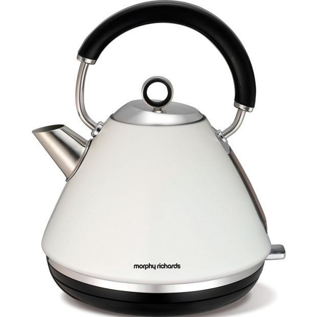 buy morphy richards 102005 accents pyramid kettle white. Black Bedroom Furniture Sets. Home Design Ideas