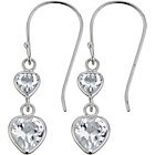 more details on Sterling Silver Cubic Zirconia Heart Drop Earrings.