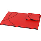 more details on Leather Effect Reversible Placemat Set - Black and Red.