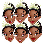 more details on Disney Princess Tiana Pack of 6 Masks.
