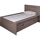 more details on Seattle Single 2 Drawer Storage Bed Frame - Smokey Oak.