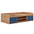 more details on Malibu Cabin Bed Frame - Blue on Pine.