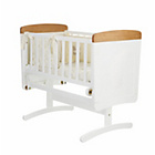 more details on Obaby B is for Bear White Gliding Crib - Cream Bedding Set.