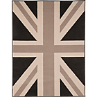 more details on Union Jack Flag Rug 160 x 120cm - Grey and Black.