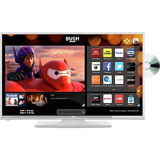 bush led24127dvdcntdw 24 led smart tv full hd dvd combi 2x hdmi 1x scart black ebay. Black Bedroom Furniture Sets. Home Design Ideas