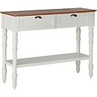 more details on Addington 2 Drawer 1 Shelf Two Tone Console Table - White.