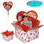 more details on One Direction Foil Balloon in a Box - Louis.