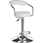 more details on Collection Executive White Gas Lift Bar Stool.