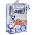 more details on Airwrap Mesh 4 Sided Cot Bumper - Blue.