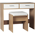 more details on New Sywell Dressing Table and Stool - Oak Effect & White.
