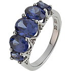 more details on Sterling Silver Tanzanite Colour Cubic Zirconia 5 Stone Ring
