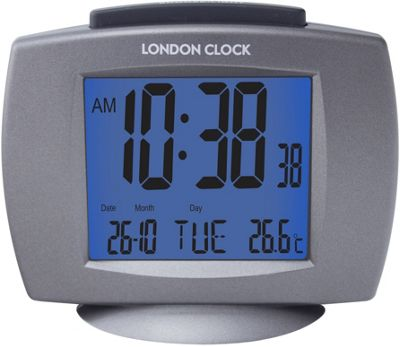 buy lc twin bell alarm clock black at your online shop for clocks. Black Bedroom Furniture Sets. Home Design Ideas