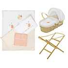 more details on Baby Elegance Moses Basket, Stand and Bedding Set - Cream.
