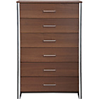 more details on New Genova 6 Drawer Chest - Walnut Effect.