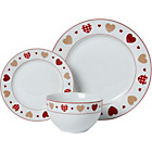 more details on Heart of House Hearts 12 Piece Dinner Set - Red.