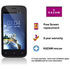 more details on Sim Free KAZAM Thunder 245L Smartphone - Black.
