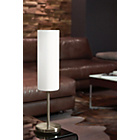 more details on Eglo Troy Satin Glass and Nickel Table Lamp - White.