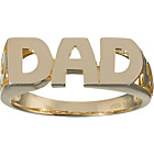 more details on 9ct Gold Plated Silver 'Dad' Ring.