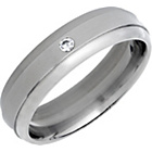 more details on Titanium Cubic Zirconia Polished Band Ring.