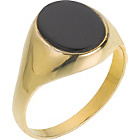 more details on 9ct Gold Plated Silver Onyx Signet Ring.