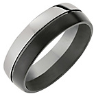 more details on Titanium Half Black Brushed and Half Polished Ring.