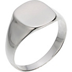 more details on Sterling Silver Plain Signet Ring.