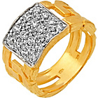 more details on 9ct Gold Plated Silver Cubic Zirconia Ring.