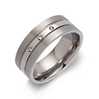 more details on Titanium Diamond Set Comfort Ring.