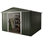 more details on Hercules Deluxe Apex Metal Shed and Floor Frame - 10 x 13ft.