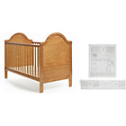 more details on Obaby B is for Bear Cot Bed, Mattress and White Set - Pine.