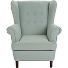 more details on Martha Fabric Wingback Chair - Duck Egg.