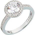 more details on Platinum Plated Sterling Silver 1.50ct Look Cubic Zirconia.