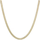 more details on 9ct Gold Plated Silver Curb Chain.