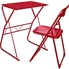 more details on Office-in-a-Box Desk and Chair Set - Red.