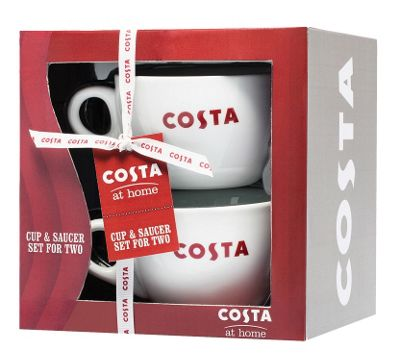Costa Set of 2 Mugs and Saucers