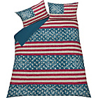 more details on Stars and Stripes Multicoloured Bedding Set - Double.