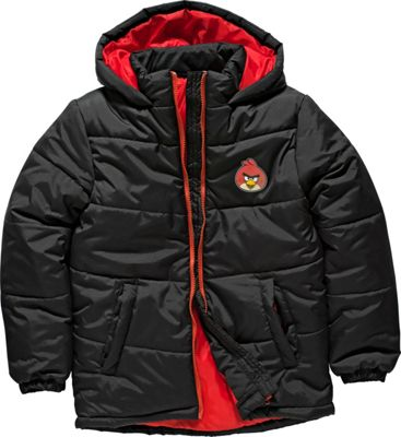 Angry Birds Boys' Black Puffa Jacket - 8-9 Years